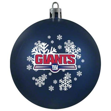 new york giants shatterproof ornament football christmas