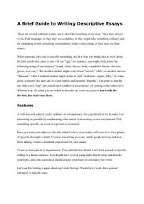 Exles Of Discriptive Essay by Images Images Descriptive Writing Exles