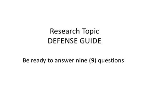 how to defend your dissertation research 2 how to defend your problem thesis