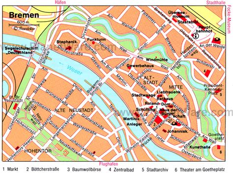 bremen city map 10 top tourist attractions in bremen easy day trips