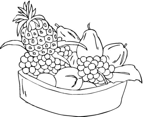 basket of fruit for kids coloring pages coloring point