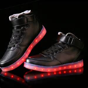 new 7 colors led sneakers light up sneakers for adults led