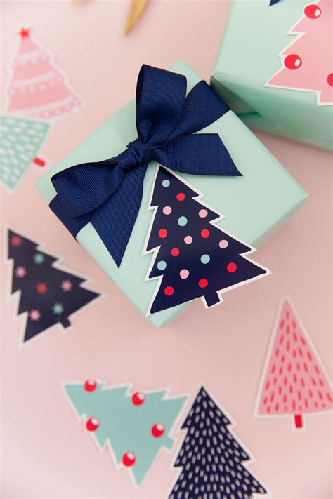 printable christmas tree gift tags  love  party