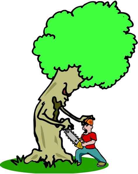 do not cut the tree to get the fruit cutting trees clipart clipartsgram