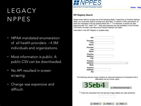 national plan and provider enumeration system nppes modernizing national health care provider information with