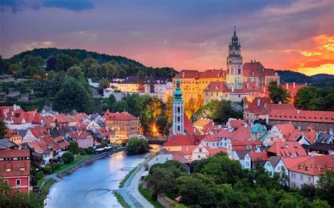 czech republic vltava river city sunset  iphone