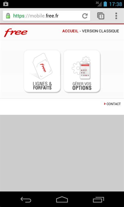 mobile free site free mobile un site adapt 233 aux smartphones mais 224 l