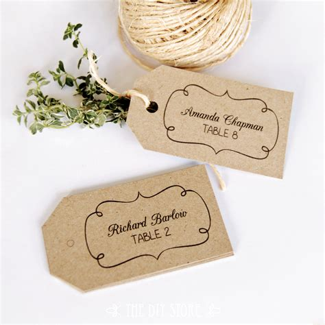 escort card tag printable text editable medium tag size