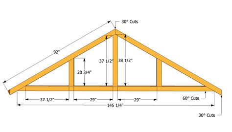 a frame roof pitch how to build a roof for a 12x16 shed howtospecialist