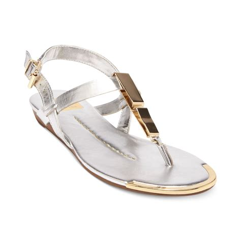 sandals dolce vita dolce vita dv by abley flat sandals in silver