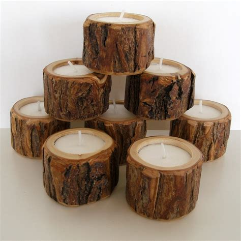 dudes 8 rustic candle holders