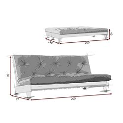 futon dimensioni divano letto futon fresh zen vivere zen