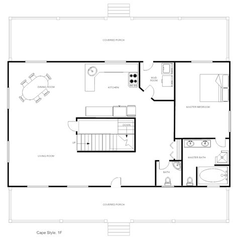 wonderful floor plans for homes using smart draw floor house plan cape style
