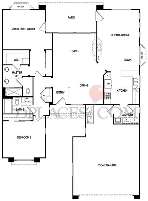 Camelot Floorplan   1596 Sq. Ft   Sun City Summerlin