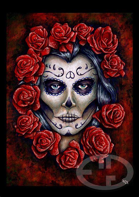 Imagenes De Calaveras Rosas   calaveras y rosas por fgarrido dibujando