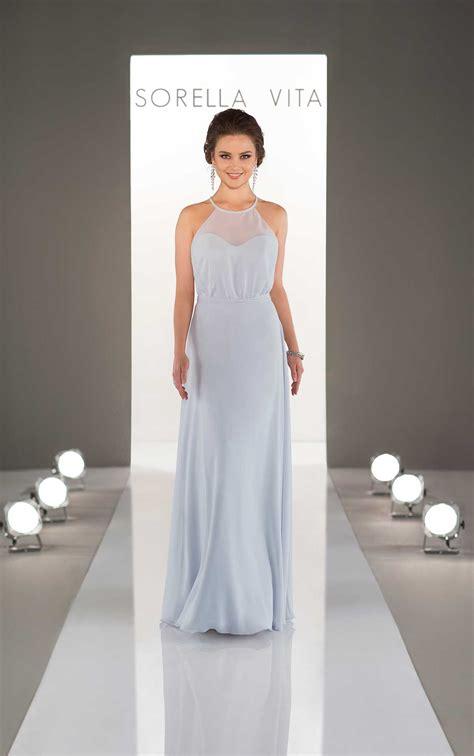 modern flowing bridesmaid gown sorella vita