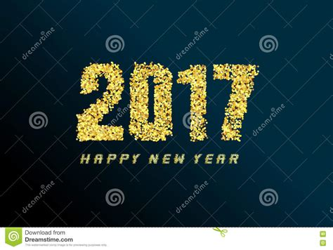 new year greeting gold happy new year greeting card 2017 with gold stock vector