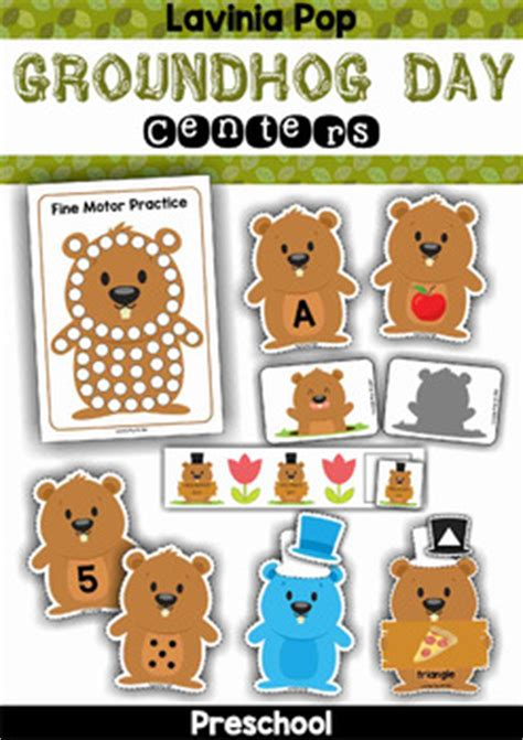 groundhog day kindergarten groundhog day preschool centers by lavinia pop tpt