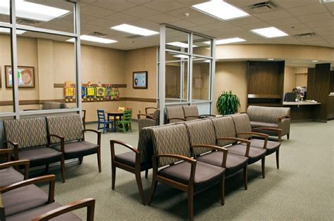 Ambulatory Surgery Center Floor Plans by Brown Color Chairs In Medical Office Waiting Room