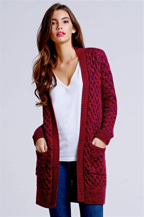 burgundy knit cardigan outlet on burgundy and navy cable knit cardigan