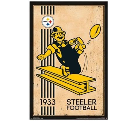 Pittsburgh Steelers Home Decor pittsburgh steelers retro logo 1933 poster best dorm