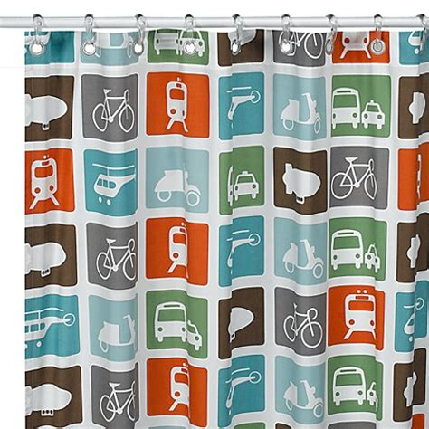 transportation shower curtain dwellstudio transportation fabric shower curtain bed