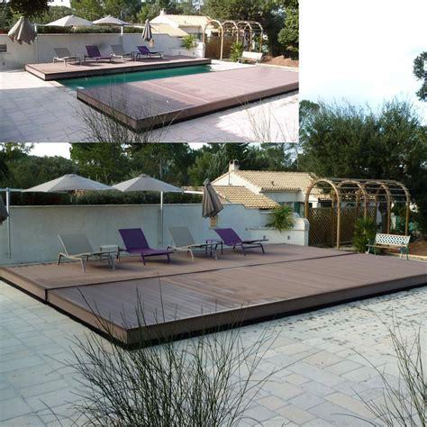 coprire una terrazza scopri coverwood la copertura mobile a terrazza per piscine