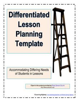 gifted lesson plan template differentiated lesson planning template great for gifted