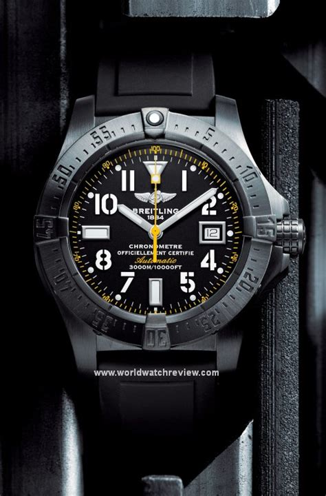 breitling avenger seawolf blacksteel code yellow limited edition world review