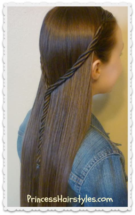 tie back hairstyles licorice braid tie back hairstyle hairstyles for girls