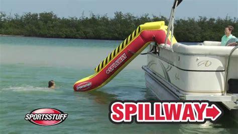 pontoon water slide sportstuff spillway pontoon slide 2014 hd youtube
