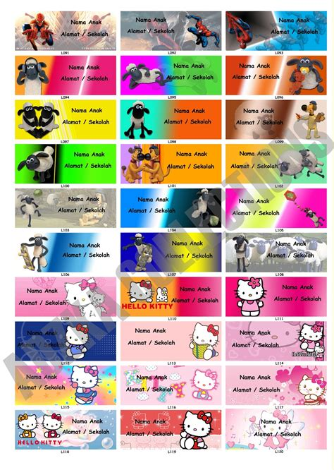 Buku Sticker Anak Creative Sticker adzka collections sticker label anak