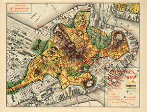 Old Map Of Boston by Reading The City Superimposing Maps