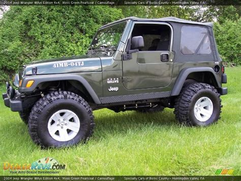 Jeep Willys Edition Moss Green Pearlcoat 2004 Jeep Wrangler Willys Edition 4x4