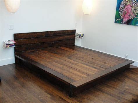 reclaimed wood platform bed rustic modern bed  wearemfeo