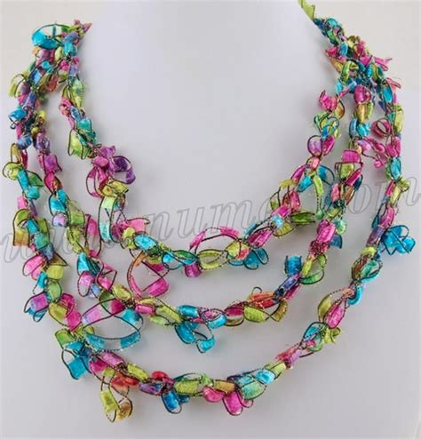 free pattern ladder yarn necklace free crochet pattern ladder ribbon necklace pattern 6