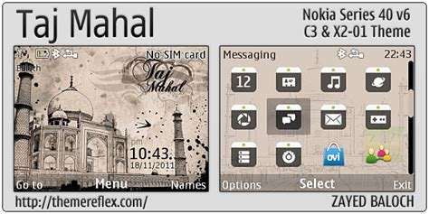 tehkseven themes for nokia c3 taj mahal theme for nokia c3 x2 01 themereflex