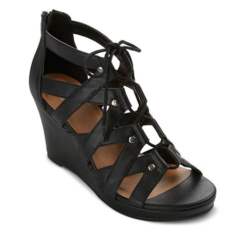 target gladiator sandals women s tami gladiator wedge sandals mossimo