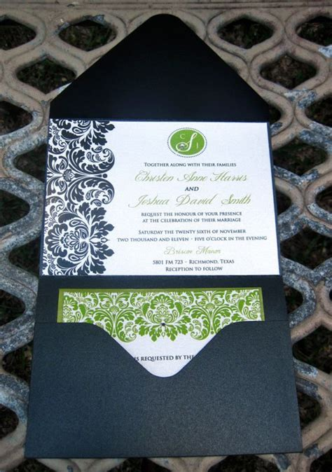 green and black wedding invitations diy wedding invites black white and green weddingbee