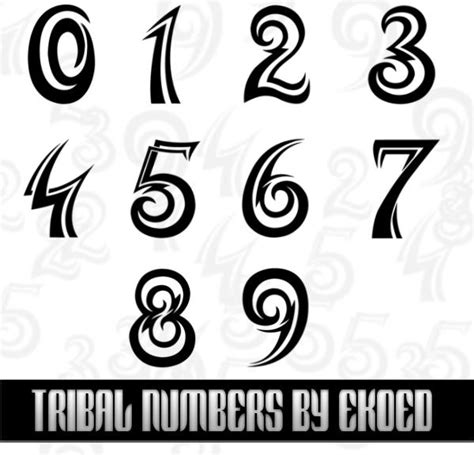 tattoo fonts download photoshop numbers
