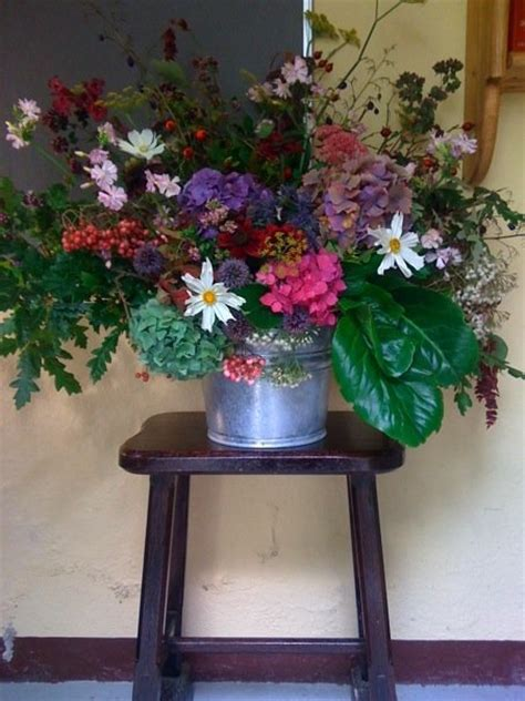 natural flower arrangement from garden vase howbert