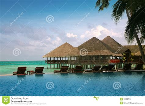 maldives bungalow water maldives water bungalows royalty free stock image image