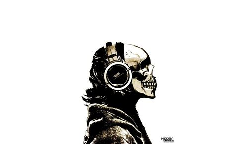 Skull Headphones dubstep skull with headphones www imgkid the image