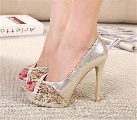 Comfortable Gold Heels by Comfortable Gold Heels Qu Heel