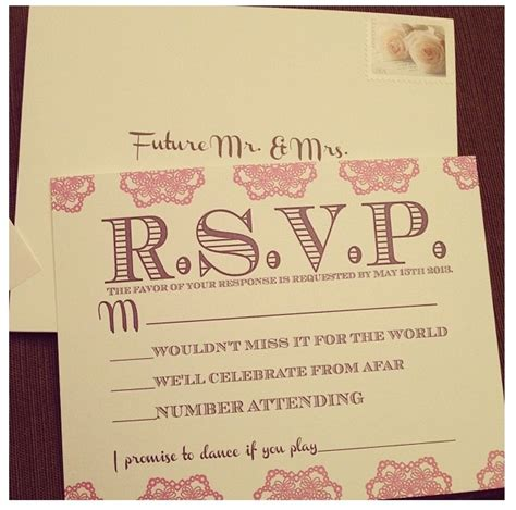 Wedding Card On Song by Rsvp Card With Song Request Wording Happily After