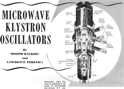 Who Invented The Table Microwave Klystron Oscillators April 1952 Radio