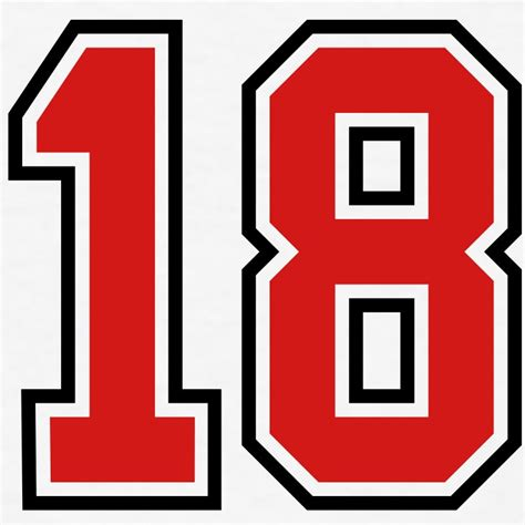 design jersey number 18 sports jersey football number t shirt spreadshirt