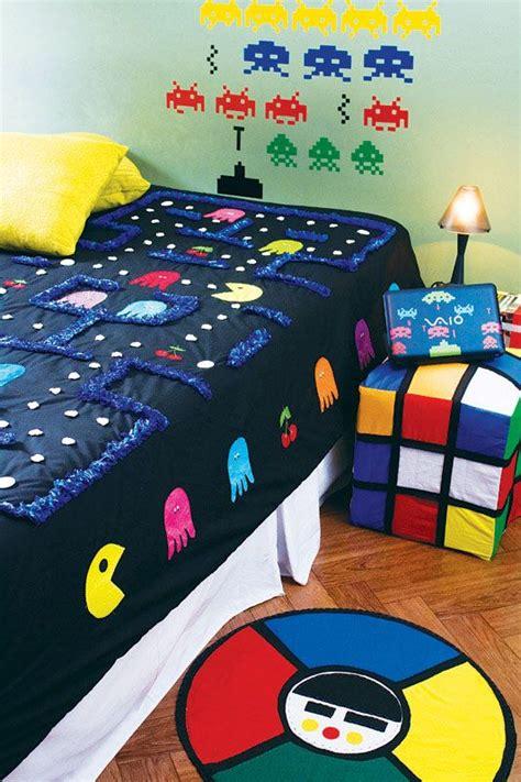 video game bed sheets ambientes inspirados em games design culture