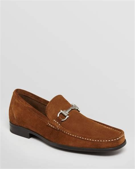 light loafers ferragamo magnifico suede loafers in brown for light