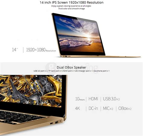 Notebook Axioo My Book 10 Gold 10 1 N3350 1 1 Ghz 2gb 500gb Dos onda xiaoma 41 ultrabook laptop gold